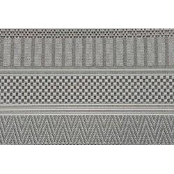 Garden Impressions Buitenkleed Stripes licht grijs 120x170 cm