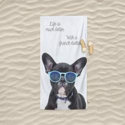 Nightlife - Strandlaken - French Bulldog - Badstof