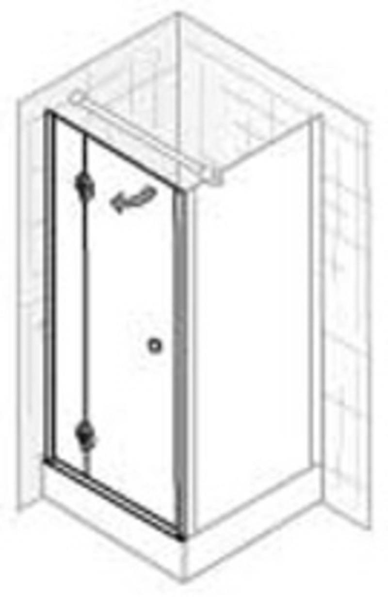 Ben Premium Classic Zijwand 80x200 cm helder glas / wit -