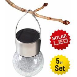 Näve Außenleuchte, LED Solar Pendelleuchte, 5er Set