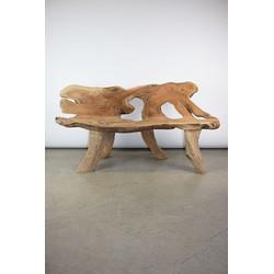 Originele teak houten bank (exclusief zoals afgebeeld)