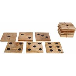 Onderzetters dobbelsteen 6 stuks