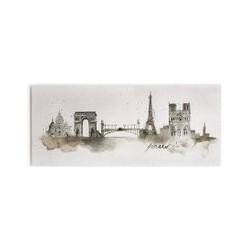 Graham & Brown Paris Printed Canvas, Brown