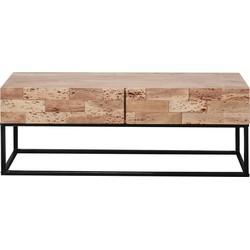 Industry Sandblast - TV-meubel - acacia - gezandstraald - metalen frame - 2 lades - L 120cm