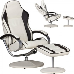 24Designs Indiana Racer II Game & Relax Fauteuil - Creme/Bruin