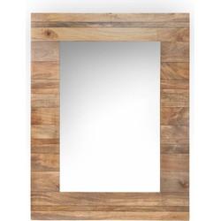 Nature - Spiegel - naturel - houten kader - 90x120cm