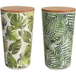 Bamboe Voorraadpot Met Deksel 2 st.