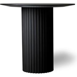 pillar side table round black