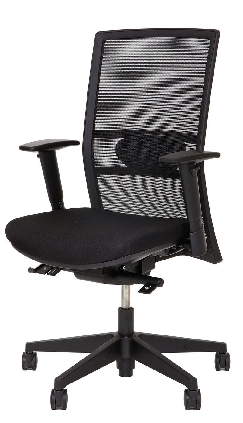 Bureaustoel Stof Zwart.24designs Bureaustoel Office Ohio Netwave Stof Zwart 24designs