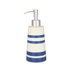 John Lewis Salcombe Stripe Soap Pump, Nautical Blue