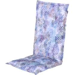 Hartman hoog tuinstoelkussen Fajen 123x50x10 cm - blauw