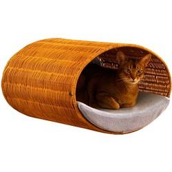 Pet-Interiors Rondo Wall Wicker Kattenhuis Natuurlijk