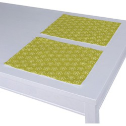 Placemats 2 st. wit-groen