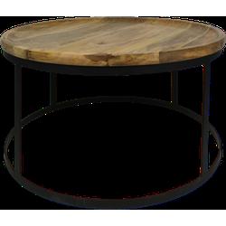 Salontafel Zen - naturel/zwart - mangohout