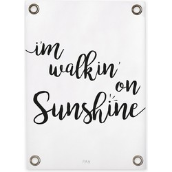 Tuinposter Walkin' on Sunshine (70x100cm)
