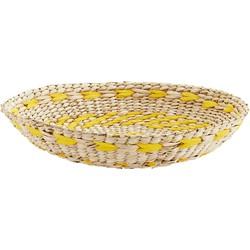 Madam Stoltz schaal zeegras naturel/geel 5,5 x Ø 35