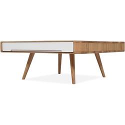 Ena Club Table - Houten salontafel - Naturel - L90 x B90 x H35 cm