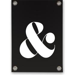 Tuinposter & teken zwart/wit (70x100cm)