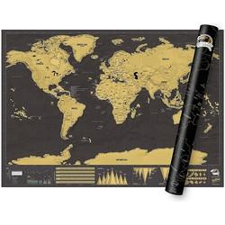 Luckies Kras Wereldkaart Scratch Map - Deluxe XL