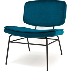 By Boo Fauteuil Vice Fluweel Blauw 76 x 64 x 73
