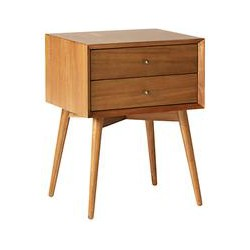 west elm Mid-Century Bedside Table, Acorn