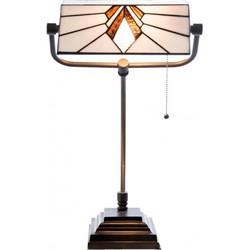 Clayre & Eef Bureaulamp Tiffany 32x27x51 cm / E27/Max.1x 60 Watt