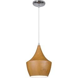 Linea Verdace Hanglamp Tipi Brown Wood - Ø24cm - H32cm