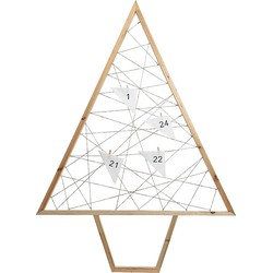 Decoris Adventkalender Boom MDF/Papier - 80 cm