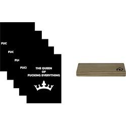 Kaarthouder+5 Kaarten A5 Queen-10x15cm-Inclusief houten kaartenhouder naturel-Housevitamin