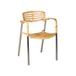 Sol Bistro Toledo stackable bistro chair natural wood effect