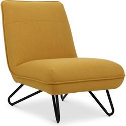 Lanterfant® Loungestoel Jeroen - Oker - Bijpassende voetenbank verkrijgbaar