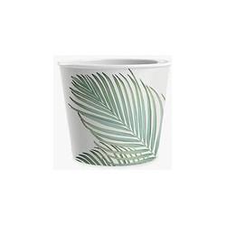 Eddingtons Leaf Ice Cream Melamine Bowls, Set of 3, Green