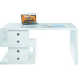 Kare Design Bureau White Club Snake Desk - 150x70x76 - Hoogglans Wit