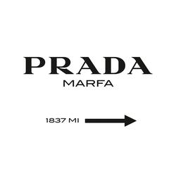Prada Marfa - Fotoprint op dibond (aluminium) met ophangsysteem - 80 X 100 X 0,3 cm