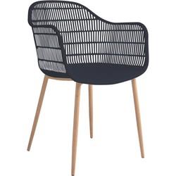 Tamy - Set van 2 stoelen - Zwart