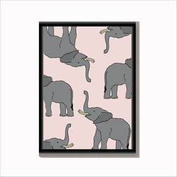 Poster Olifant - Wildlife A4