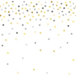 ESTAhome fotobehang confetti dots geel en grijs