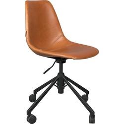 Dutchbone bureaustoel FRANKY BROWN 88,5 x 67,5 x 67,5