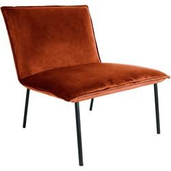 Kick fauteuil Velvet Lola - Oranje