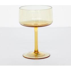 Glass vintage yolk yellow