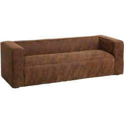 Cloudy lounge - Sofa - 3-zit - leder - bruin -gewolkt