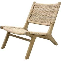 HK-living lounge stoel gevlochten riet 64x79x75cm
