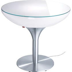 Moree - Ronde Eettafel Lounge - Hoogte 75 Cm Indoor - Wit
