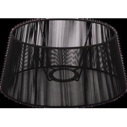 Staande lampenkap Merel ovaal 20 cm zwart