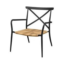 Oseasons Milos Rattan & Aluminium Arm Chair in Black, Black