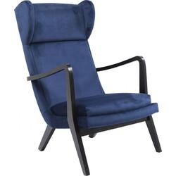 Kare Design - Fauteuil Silence - Blauw Fluweel