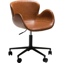 Dan-Form Bureaustoel Gaia cognac 75-87 x 61 x 59