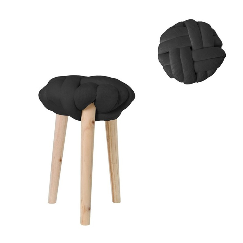 Tabouret - kruk - zwart -