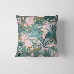 Sierkussen - Jungle roze - 40 x 40 cm kussenhoes + vulling