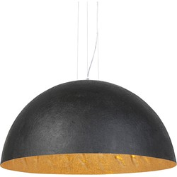 Modern Round Pendant Lamp 90cm Black and Gold - Magna